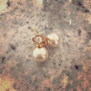 Jewelry - Gold and Pearl Stud Earrings